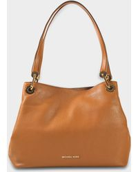 e4a0687c1b28f MICHAEL Michael Kors - Raven Large Shoulder Tote Bag In Acorn Small Pebble  Leather - Lyst