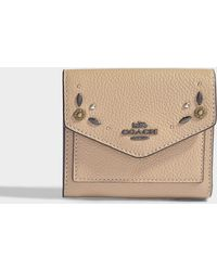 COACH - Small Wallet In Beechwood Calfskin - Lyst