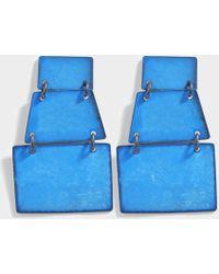 Annie Costello Brown - Stak Earrings In Blue Oxide Brass - Lyst