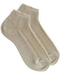 A.P.C. Jess Socks In Beige Cotton - Multicolour