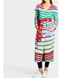 Hayley Menzies Long cardigan candy cane - Multicolore