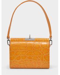 GU_DE Gemma Bag With Chain In Orange Leather