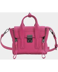 3.1 Phillip Lim - Mini Pashli Satchel Bag In Bright Fuchsia Shark Embossed Cow - Lyst