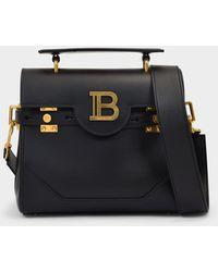 Balmain Tasche B-Buzz 23 aus schwarzem Leder