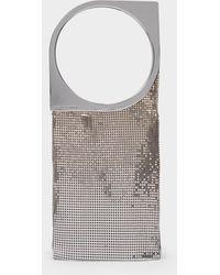 Paco Rabanne Handbag Op'art In Light Gold/silver Mesh - Metallic