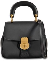 Burberry Dk88 Small Bag In Trench Leather - Black