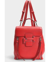 Tod's - Dot Mini Double T Backpack In Red Calfskin - Lyst