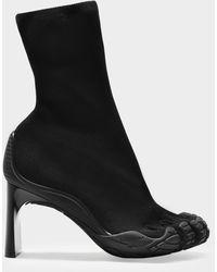 Balenciaga High Toe Ankle Boots - Black