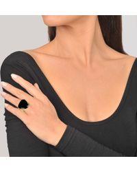 Aurelie Bidermann - VITIS RING WITH BLACK AGATE - Lyst