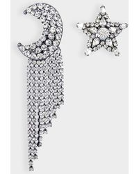 Helene Zubeldia - Exclusivity - Asymmetrical Star And Moon Crystals Cascade Earrings - Lyst