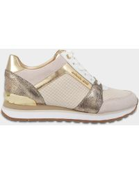 1d9161967bd7 MICHAEL Michael Kors - Billie Trainers In Ecru Nubuck And Suede - Lyst