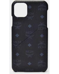 MCM Iphone 11 Pro Max Cover In Black Visetos Pvc