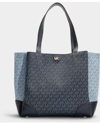 MICHAEL Michael Kors - Gala Medium Tote In Blue Canvas - Lyst