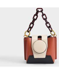 Yuzefi Daria Bag In Cream And Tan Leather - Brown
