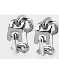 Ambush Ohrringe Chain Ring 5 aus Silber - Mettallic