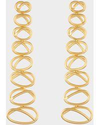 Joanna Laura Constantine - Gold Plated Dangling Knot Earrings - Lyst