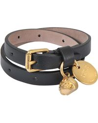 Alexander McQueen   Double Wrap Skull Bracelet   Lyst