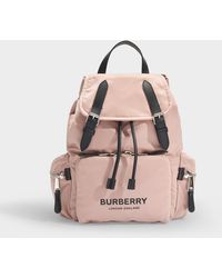 Burberry The Rucksack Nylon Backpack - Pink