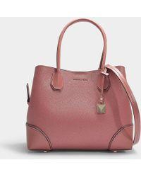882a37a3e51e MICHAEL Michael Kors - Mercer Gallery Medium Centre Zip Tote Bag In Rose  Grained Calfskin -