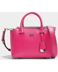 MICHAEL Michael Kors - Nolita Mini Messenger Bag In Ultra Pink Leather -  Lyst a37a3db134