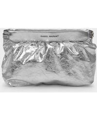 Isabel Marant Miniluz Bag in Silver Leather - Métallisé