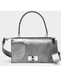 Giorgio Armani - Calliope Top Handle Bag In Silver Calfskin - Lyst
