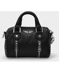 Zadig & Voltaire Sunny Nano Bag In Black Leather