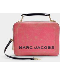 Marc Jacobs The Box Camera Bag In Pink Calfskin