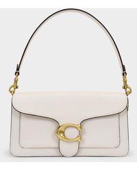 COACH Polished Pebble Leather Tabby Shoulder Bag 26 - White