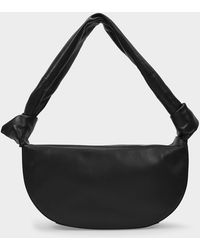 Little Liffner Double Knot Bag In Black Leather