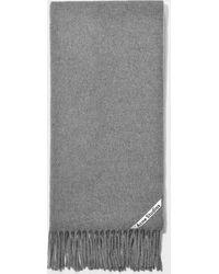 Acne Studios - Canada Narrow New Scarf In Grey Melange Wool - Lyst