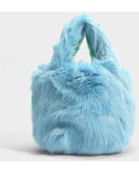 Charlotte Simone Pop Bag In Mint Green And Pastel Blue Acrylic