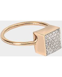 Ginette NY - Diamond Ever Square Ring - Lyst