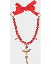 Valentino - Cult Pearls Adjustable Necklace - Lyst
