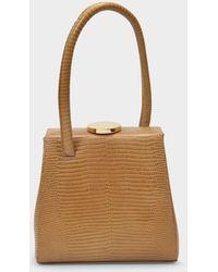 Little Liffner Mademoiselle Bag In Brown Embossed Leather