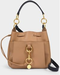 See By Chloé Medium Tony Bucket Bag In Brown Leather