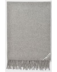Acne Studios Canada New Scarf In Light Grey Melange