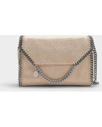 6d64ec5d54 Stella McCartney - Falabella Big Shoulder Bag In Clotted Cream Eco Leather  - Lyst