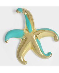 Giorgio Armani - Broche star en métal turquoise et or - Lyst