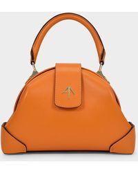 MANU Atelier Demi Bag In Orange Leather