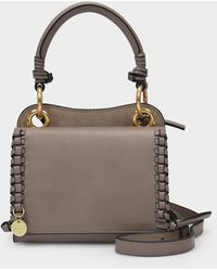 See By Chloé Handbag Tilda In Gray Grained Leather And Suede