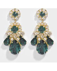 Shourouk - Ds Emerald Earrings In Green Brass And Swarovski Crystals - Lyst
