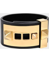 Valentino - B-rockstud Bracelet In Black Leather - Lyst