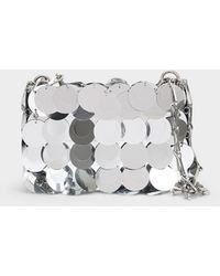 Paco Rabanne Tasche Sparkle Nano aus silberfarbenem Polyesther - Mettallic