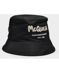 Alexander McQueen Mcqueen Graffiti Hat In Black Polyester