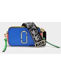 Marc Jacobs Handtasche Snapshot aus Kalbsleder mit Polyurethan Beschichtung in Blau und Bunt