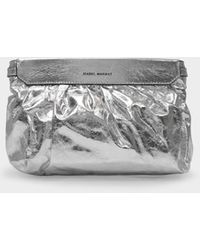 Isabel Marant Luzes Bag In Silver Leather - Metallic