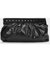 Isabel Marant Luzel Clutch In Black Leather