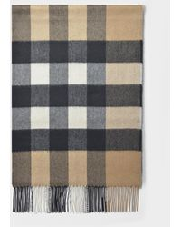 Burberry Mega Checked Cashmere Scarf - Natural