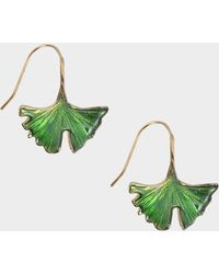 Aurelie Bidermann - Tangerine Earrings In Green Lacquered Gold Plated Brass - Lyst